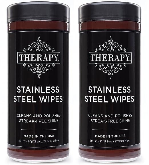 Amazon.com: Terapia acero inoxidable toallitas, 30 unidades ...