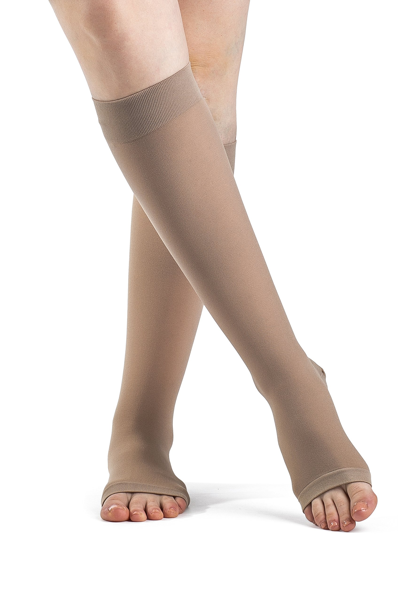 SIGVARIS Women's Access 970 Open-Toe Calf High Medical Compression 15-20mmHg