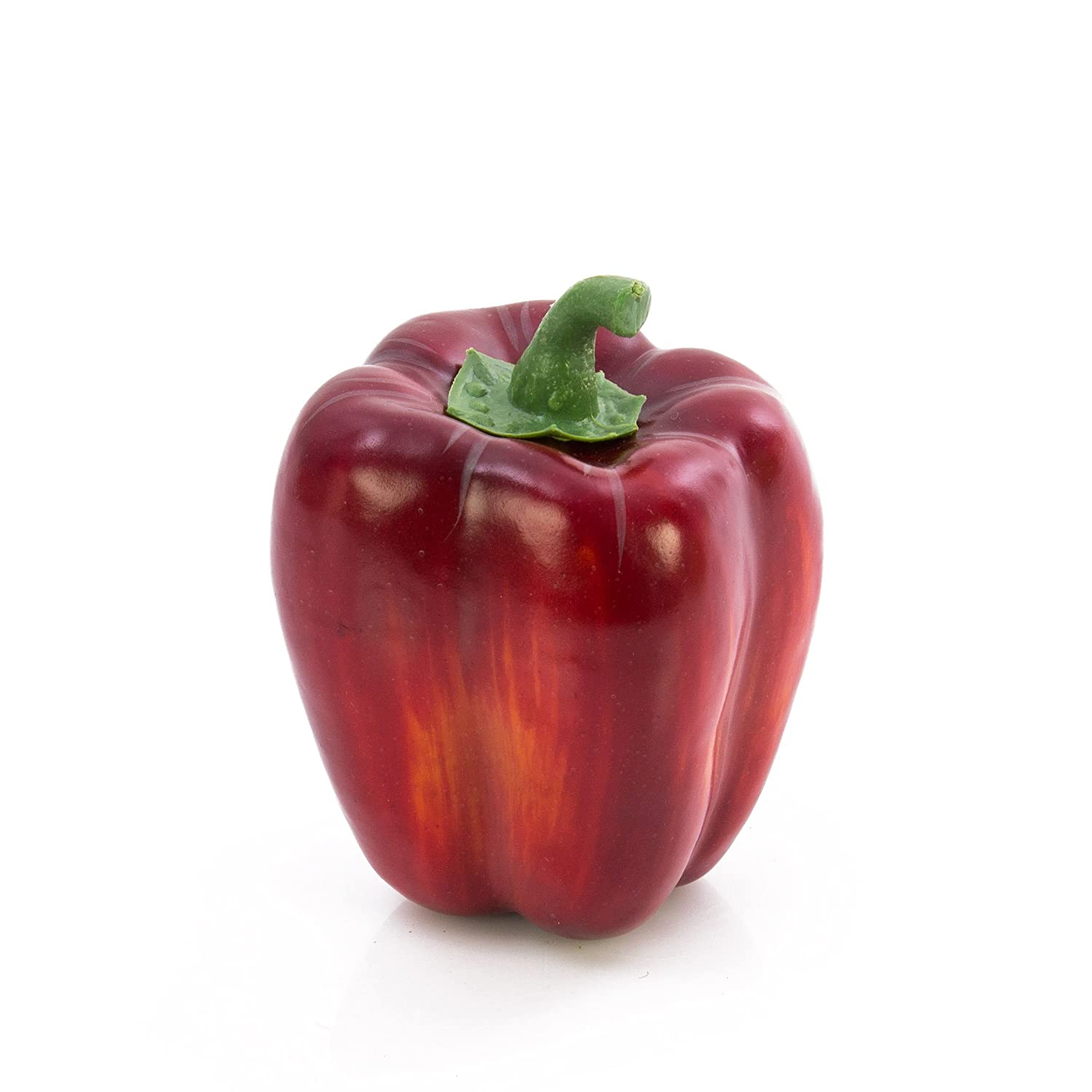 Peperone rosso artificiale, 11 cm, Ø 7 cm - Ortaggio artificiale / Verdura decorativa - artplants