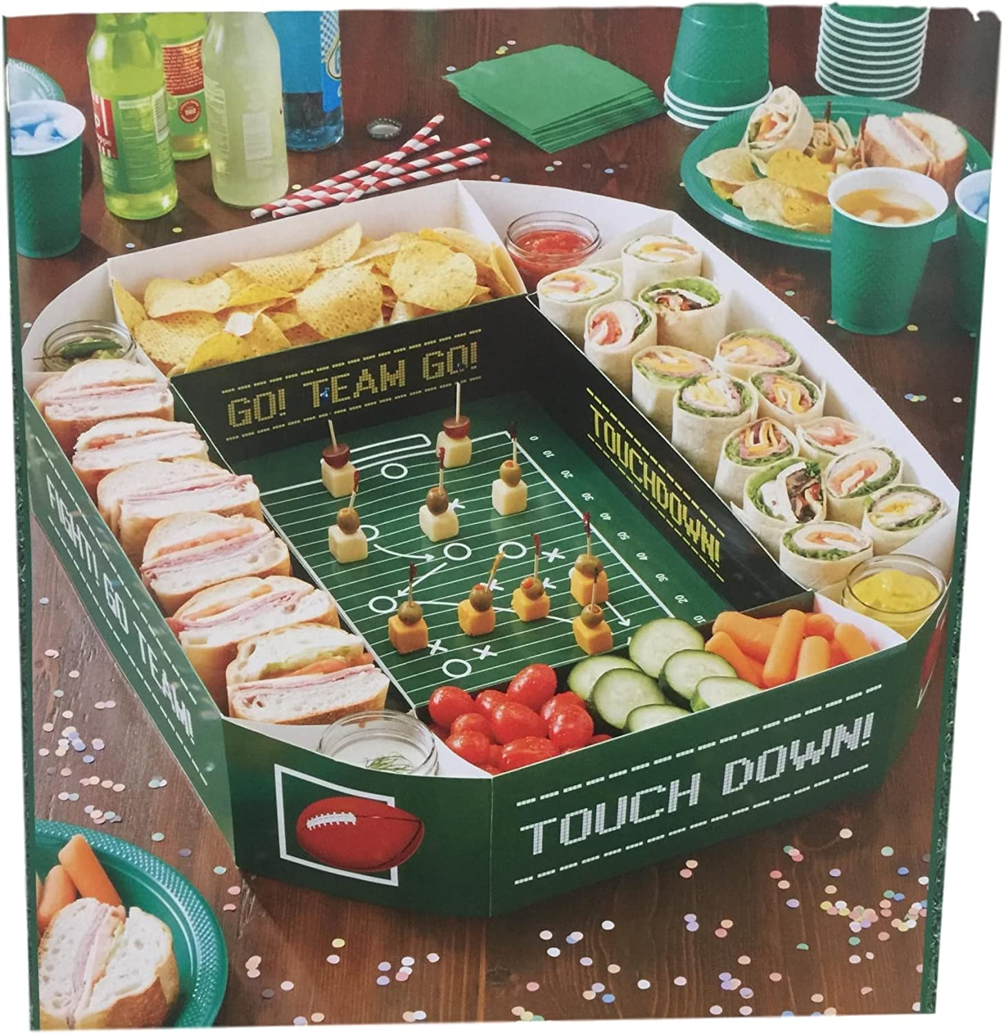 Nantucket H Large Football Field Sectional Snack Stadium Serve Your Party Favorites