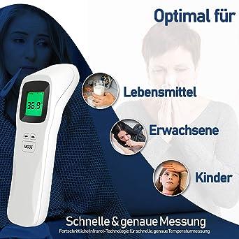 MongKok Baby Erwachsene Muti fuction Elektronisches Digitalthermometer Nicht Kontakt Infrarot IR Stirn Thermometer Infant