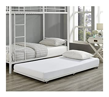 we furniture white metal roll out twin trundle bed frame - White Metal Bed Frame Twin