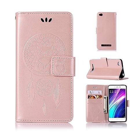 BCIT Xiaomi Redmi 4A Funda - [Patrón de búho] Carcasa Libro de Cuero con Tapa y Cartera, Carcasa PU Leather con TPU Silicona Case Interna Suave para ...