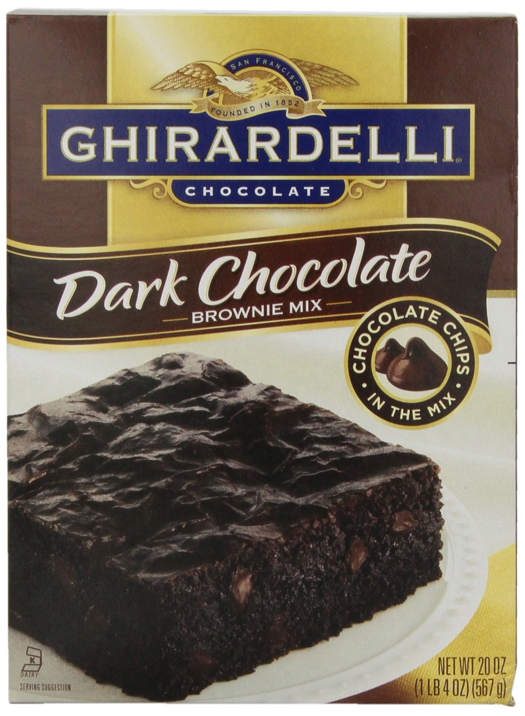 Ghirardelli Dark Chocolate Brownie Mix, 20 oz