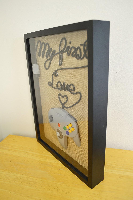 Amazon.com: Nintendo 64 Wall Art Shadow Box - N64 My First Love ...
