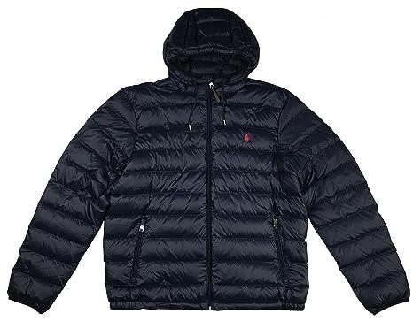 Polo Ralph Lauren Men\u0027s Hooded Down Jacket, Packable at Amazon Men\u0027s  Clothing store: