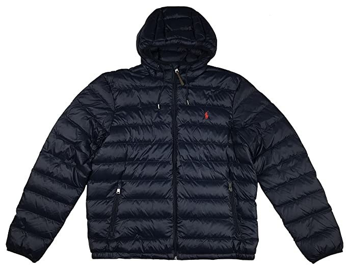 Hooded Polo JacketlargeBlack Ralph Full Mens Zip Puffer Lauren mN0wOvy8n