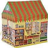 HOMCOM Tienda de Campaña Infantil Tienda de Juegos de Supermercado para Niños Mayores de 3 Años con Ventanas Gran…