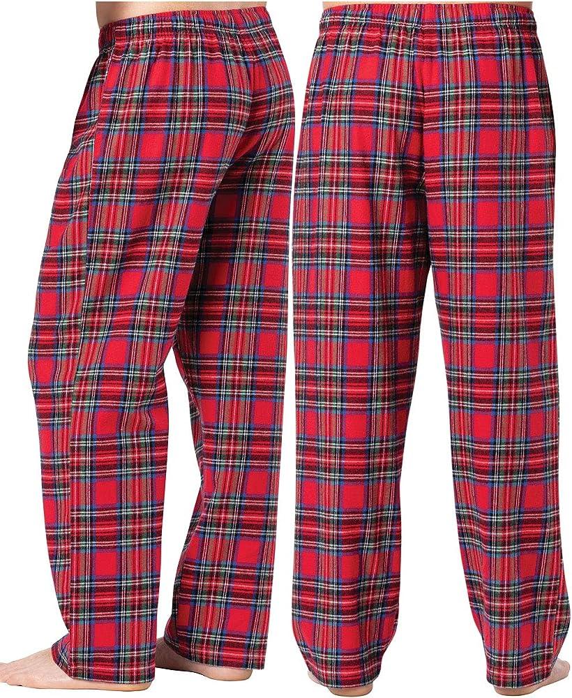 New Mens Flannel Fleece Pajama Pant Lounge Pants PJ Pants
