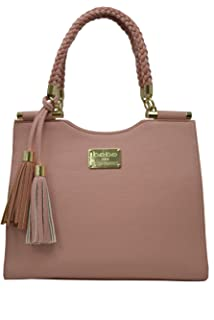 Amazon.com: BEBE USA Colette triple entry shoulder bag blush ...