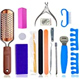 Pedicure Kit by Serene Selection, Professional and Home use, Foot Scrubber, Callus Remover Scraper Tools, File, Spa…