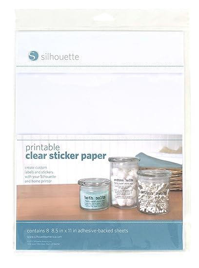 silhouette media clr adh printable clear sticker paper