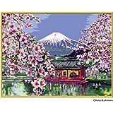 Ravensburger 28841 - Japanische Kirschblüte - Malen nach Zahlen, 40 x 30 cm