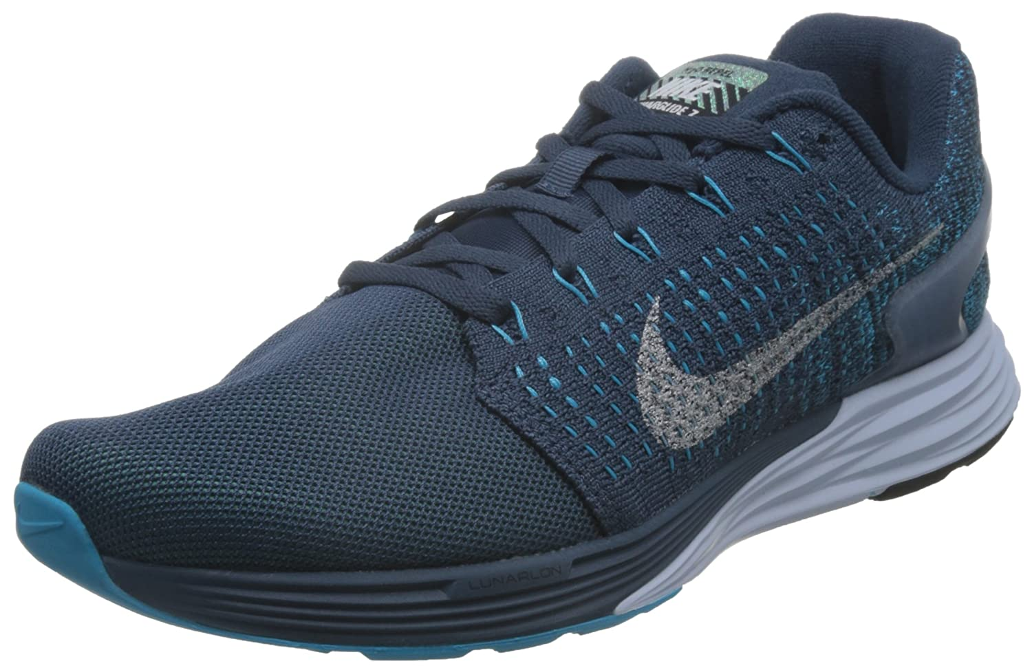 a071bfd4d316 Nike Lunarglide 7 Flash 803566-400 Mens shoes SQUADRON BLUE REFLECT SILVER- BLUE LAGOON 9 D(M) US  Amazon.in  Shoes   Handbags