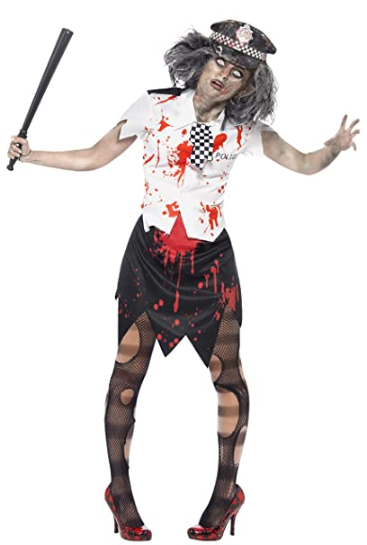 Disfraz de policia zombie Halloween