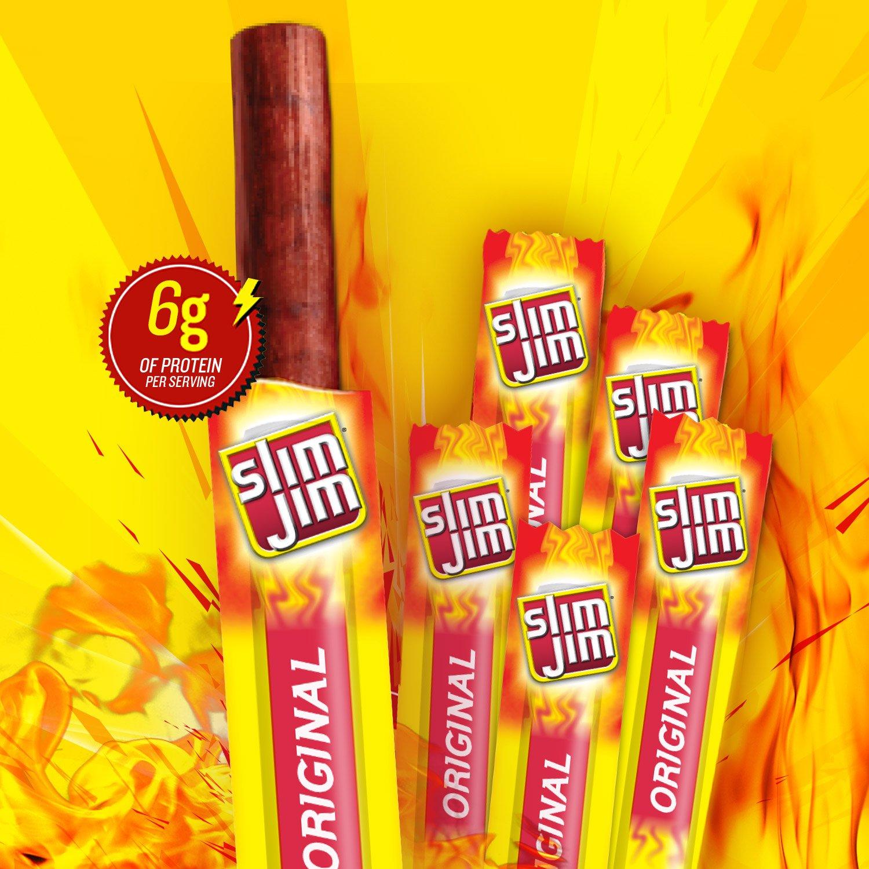 Slim Jim Snack-Sized Smoked Meat Stick, Original Flavor, 33.6 Ounce by Slim Jim (Image #7)