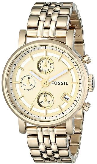 a695423529c4 Fossil ES2197 - Reloj analógico de Cuarzo para Mujer con Correa de Acero  Inoxidable