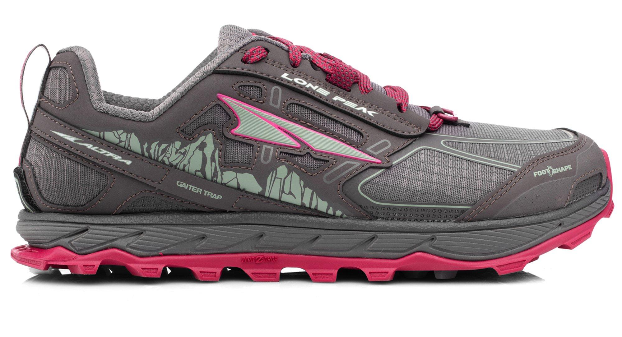 Altra AFW1855F Women's Lone Peak 4.0 Trail Running Shoe, Raspberry - 8.5 B(M) US by Altra