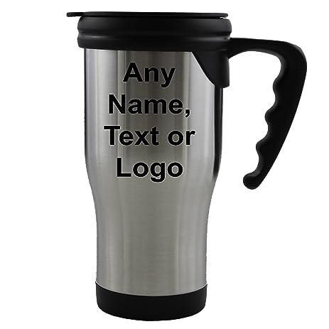 amazon com personalized travel tumbler coffee mug with handle