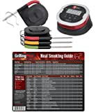 GrillingPros Weber iGrill2 Complete Master Kit with 3 Pro Meat Probes, 1 Ambient Pro Probe and Meat Smoking Guide Magnet
