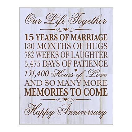 Amazon Lifesong Milestones 15th Wedding Anniversary Gift For