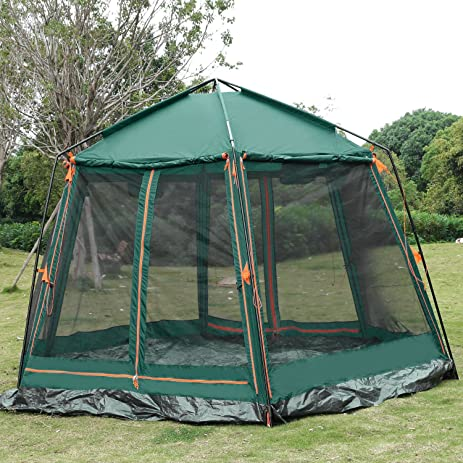 ANCHEER 8 Person Camping Tent, Double Layer Windproof Waterproof 4 Season  Large Automatic Cabin Tents
