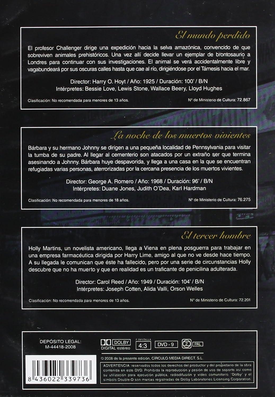 Amazon.com: El Mundo Perdido (The Lost World) (1925) / La Noche De Los Muertos Vivientes (Night Of The Living Dead) (1968) / El Tercer Hombre (The Third Man ...