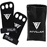 Crossfit Hand Grips - Leather WOD Grips. 3-hole Callus Guards for Cross Training, Gymnastic, Pull Ups, Chin Ups, Kettlebells, more. Suits Men & Woman. Protect Your Palms from Rips and Tears