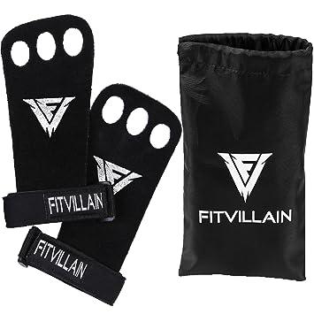 FITVILLAIN Maniques Crossfit Gants de Musculation - Gymnastique ... 3545db5487f