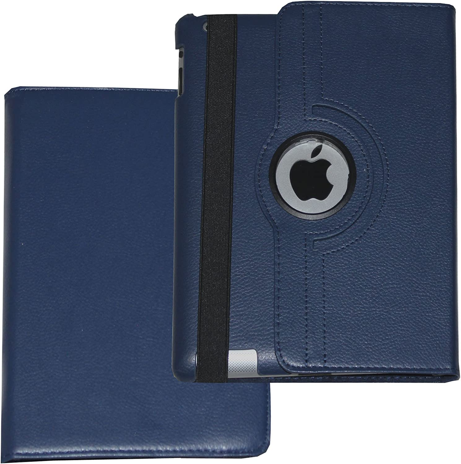 Case for iPad 2nd 3rd 4th Generation, Fit Model A1395 A1396 A1397 A1416 A1430 A1403 A1458 A1459 A1460 – Lingsor Smart Cover Case Rotating Stand Support Wake up Sleep, Royal Blue