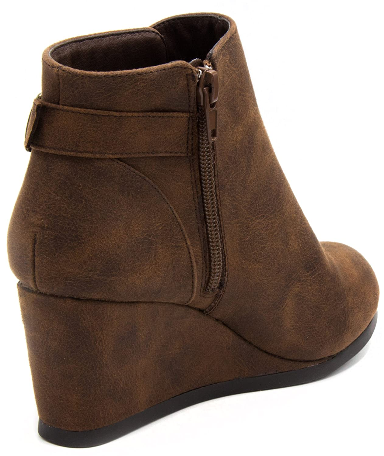 3234b35e2e6 Amazon.com  Sugar Women s Megan Wedge Bootie with Buckle Ankle Boot  Shoes
