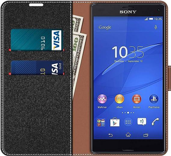 COODIO Funda Sony Xperia Z3 Compact con Tapa, Funda Movil Sony ...