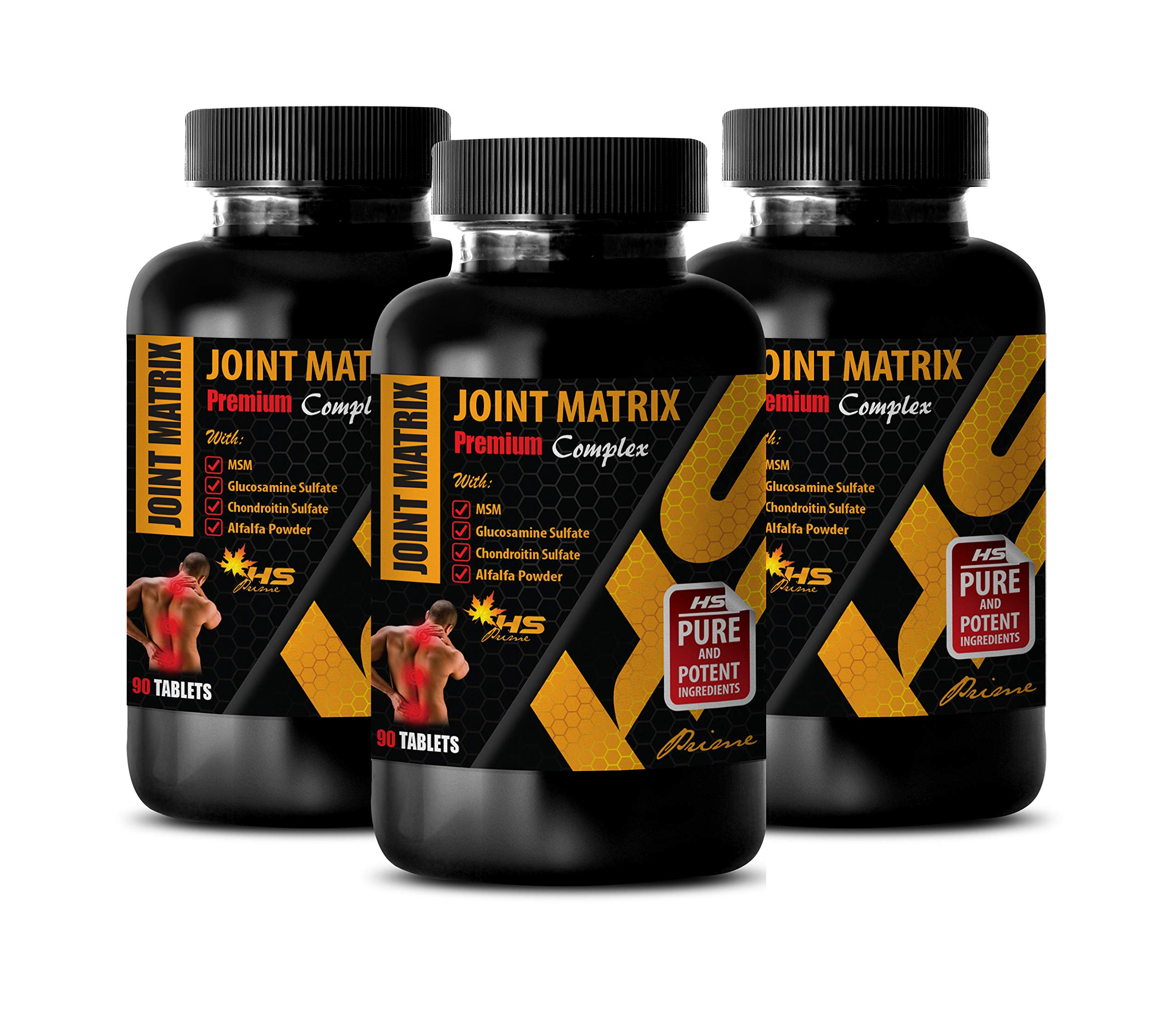 Natural Joint Supplements for Women - Joint Matrix 2170MG - Premium Complex - zinc with Copper Supplement - 3 Bottles 270 Tablets