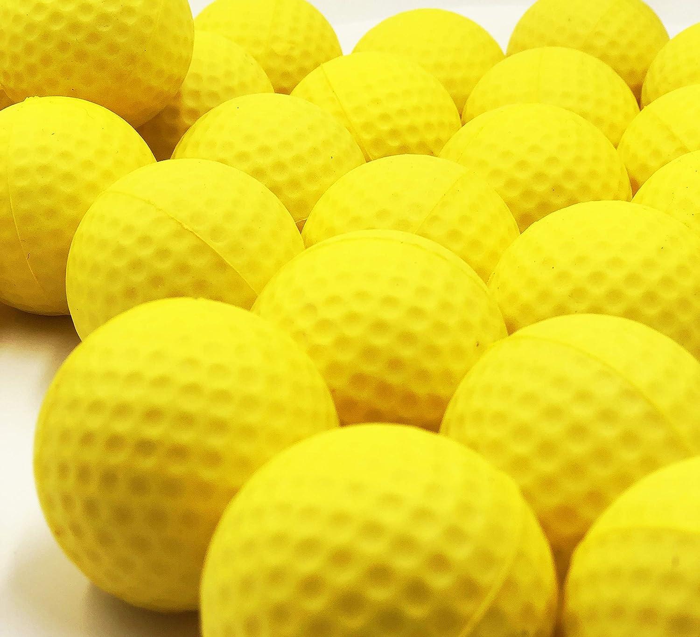100pcs Yellow Golf PU Ball Foam Ball Restricted Flight Balls Practice Golf Training aids