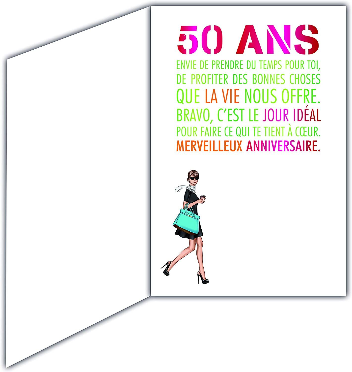 Afie Carte Anniversaire 50 Ans Femme Couleur Selon Disponibilite Rose Fuschia Or Cf Photos Fleurs Dorure Fuchsia Rose Amazon Fr Fournitures De Bureau