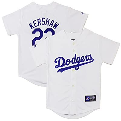 new products 0ee21 d6dae OuterStuff Clayton Kershaw Los Angeles Dodgers White Youth ...