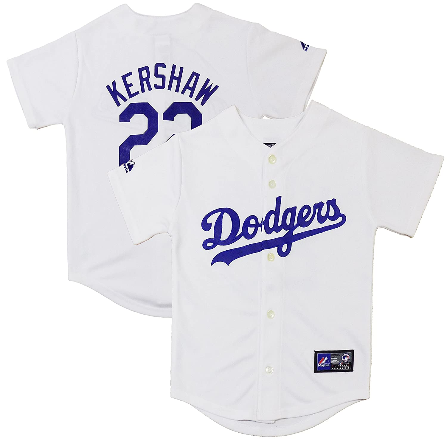 new products cba98 78480 OuterStuff Clayton Kershaw Los Angeles Dodgers White Youth ...