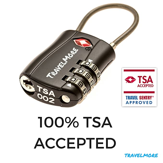Amazon Tsa Approved Travel Combination Cable Luggage Locks For