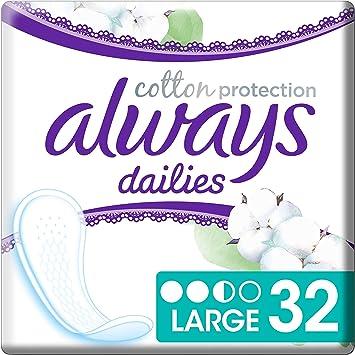 Always Protección Protegeslips Diarios Grandes De Algodón 110 g ...