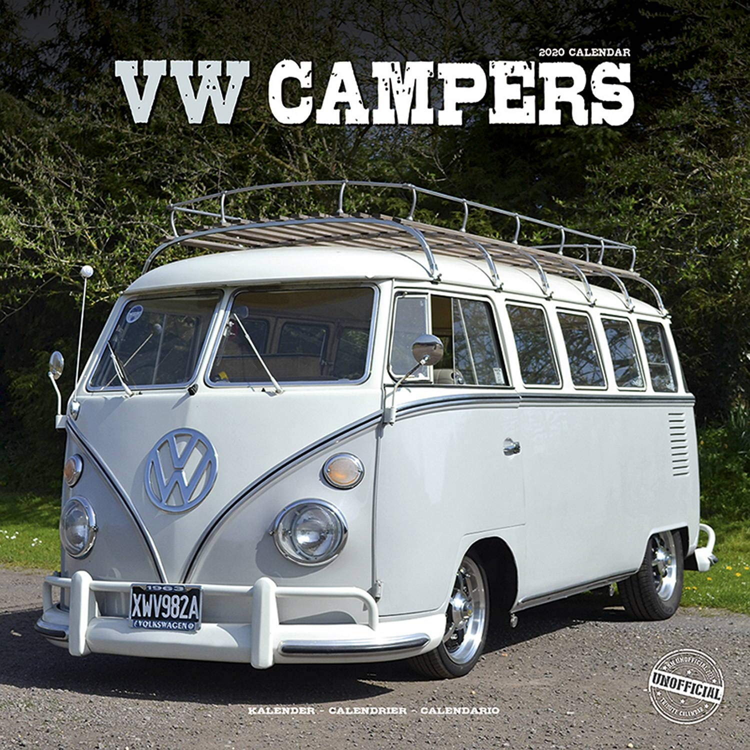 Calendrier Fun Car 2020.Vw Camper Calendar Calendars 2019 2020 Wall Calendars