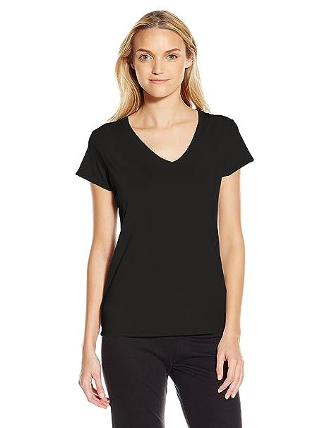 539bca796cf3 Alternative Women's Everyday Short-Sleeve V-Neck T-Shirt, Black, Small