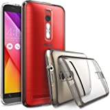 """ASUS ZenFone 2 (5.5 Inch) Case - Ringke FUSION [Drop Protection] ENHANCED AND REVISED [FREE HD Film][SMOKE BLACK] Premium Clear Back Shock Absorption Bumper Hard Case for ASUS ZenFone 2 [ZE550ML/ZE551ML 5.5"""" - Not for ZE500CL]"""