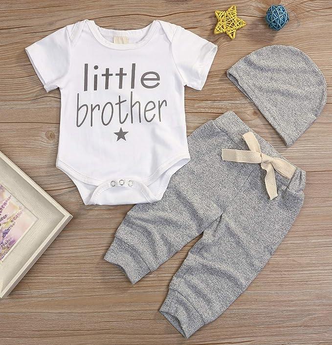 Amazon.com: Conjunto de 3 piezas de ropa de bebé para mamá ...
