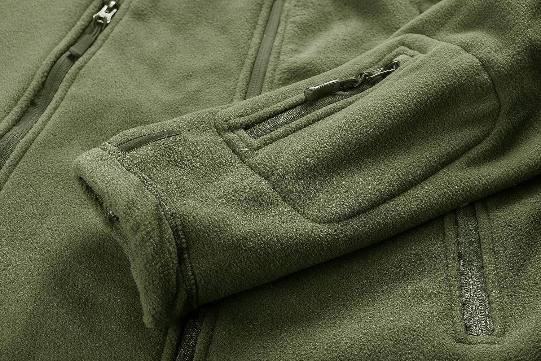 CRYSULLY Mens Military Tactical Sport Warm Fleece Hooded Outdoor Adventure Jacket Coats