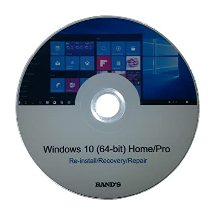 Amazon.com: Windows 10 64-bit Home and Pro Re-install, Recovery ...