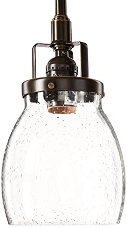 Sea Gull Lighting 6114501 782 Belton One Light Mini Pendant With Clear  Seeded