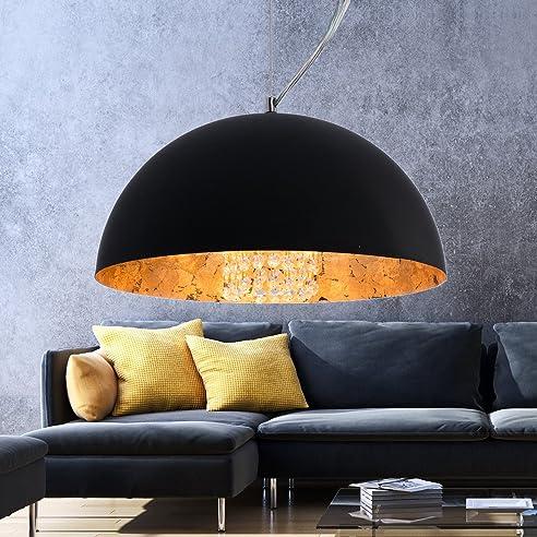 xl hngeleuchte studio one deckenlampe 40cm gold industrie lounge wohnzimmer - Deckenlampe Wohnzimmer Gold