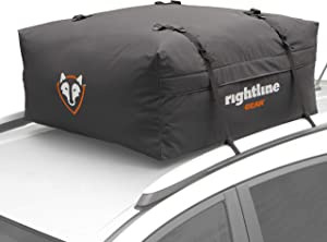 Rightline Gear Range Jr Car Top Carrier, 10 cu ft Sized for Compact Cars, Weatherproof +, Attaches With or Without Roof Rack