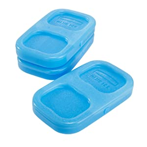 Rubbermaid LunchBlox Ice Pack, Small, Blue, 3 Pack 1857118