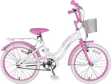 F. lli Schiano Lola Bicicleta niña, Lola, Blanco/Rosa: Amazon.es ...